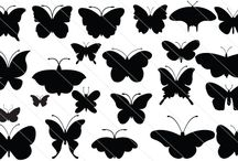 Butterfly Silhouette Vector / Stunning set of 55 butterflies as a great collection of 55 Butterfly Silhouette vector. This is a perfect silhouette to show a nature graphics