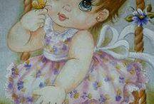 molde e pintura menina