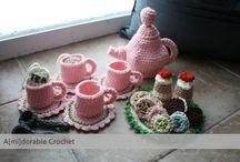 crochet teaset