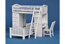 dollhouse and doll furniture