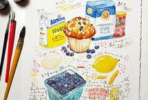 Food in drawings