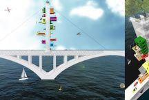 """Concours architecture enfants à Brest / Concours de dessin destiné aux enfants du CP au CM2 - """"Habiter un pont"""" à Brest"""
