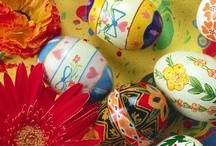 Easter Eggstravaganza / Colorful reminders of spring and that very special Easter holiday which young and old alike enjoy! Let us know if you'd like to add to our board :-)