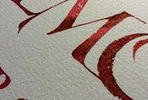 Kalligrafisk konst.