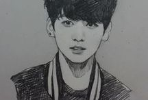 bts draw pictures and more