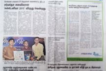 """""""MILKY WAY"""" Album launched by A.R.Rahman. Function photo Published in """"THE HINDU"""" daily"""