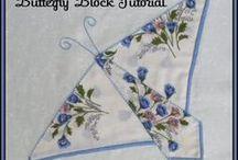 Vintage handkerchief quilting
