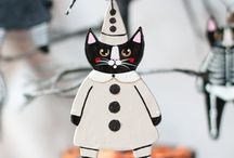 Halloween Cat Art - KilkennyCat / My Halloween art and ornaments, by Ryan Conners, aka Kilkennycat Art.