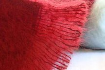 Mohair Blankets in Ravishing Red / Red Mohair Throws : Ravishing Red throws - bold, beautiful and stunning quality throws.