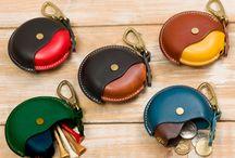 Læder -punge og tasker