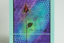 Roses / Art made with the Art Journey rubberstamp sheet Roses
