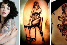 Pin Up Girl Tattoos / Pin up girl tattoos are some of the most popular adornments that can be seen on the body of a number of people in the whole world. http://fabulousdesign.net/pin-up-girls-tattoos/