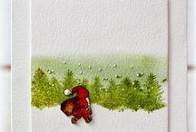 kerstkaarten schilderen