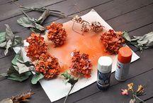 Sprayede blomster hoveder