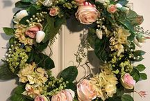 Summer wreath front door