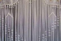 Macrames, knots, wool and string