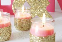 Ideas for using glitter / Gifts, houses, toys et using glitter