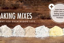 Baking mixes for blood type