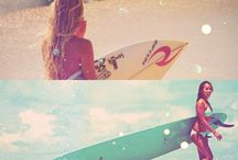 Girls and surf