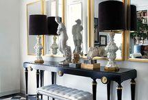 Black/White/Gold living room