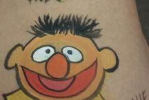Sesame Street Face Paint