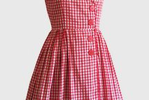 red and white  gingham summer dress