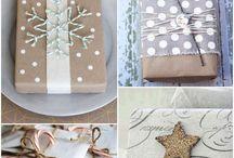 Balení vánočních dárků