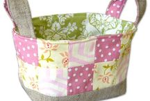 Fabric Baskets I Love / This board will share various fabric baskets patterns that I have found and adore so that my partner in the TB Summer Basket Swap can get some ideas of what I like.