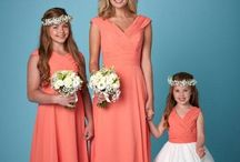 Bright Bridesmaids / Beautiful brightly coloured bridesmaid dresses.
