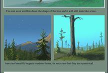 nature drawing and coloring tutorials