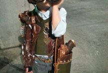 Kids steampunk cosplay