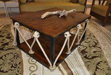 Handmade Unique Coffie Table's Masa rustic / Wood  rope table  Handmade Unique Coffie Table's Masa rustic