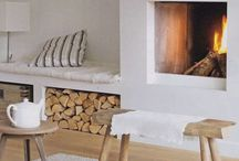 DETAILS - FIREPLACE // FEU OUVERT / Ideas for a fireplace in the living room - inspiration feu ouvert, cassette et cheminée