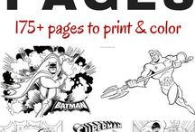 Color Pages and Color by Number