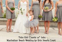 Wedding Items - Tutus and Tops / Wedding tutus, Flower Girl tutus, Gray Tutu, Grey Tutus, Charcoal Flower Girl Tutu Skirt