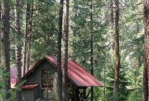 Cabin. tiny house. 오두막