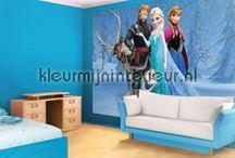Frozen (foto)behang van Elsa en Anna / Anna en Elsa uit de Disney film Frozen levensgroot aan je muur. Muurbeelden die elk meisje doen smelten.