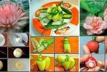 DEKORACE z ovoce a zeleniny