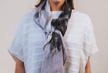 Scarves / Explore our sensational scarf collection featuring classic Iona Crawford prints and unique, innovative designs. Made from luxuriously soft silk, each scarf is ideal for wrapping and draping with contrasting colours and textures for an original layered look. Take this moment to indulge in the amalgamation of fine art and fashion, where liberation in styling and expression in Scottish contemporaneity is welcomed.