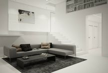 HOME, HOUSE, APARTMENT _ D.03 / PULVA, minimalistic, interior design, minimal, modern, materials, home, homestyle, house, dom, kitchen, living room, bathroom, dining room, pure, white, stairs