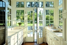 dream kitchen / ideas for spatial, bright kitchen in fusion style