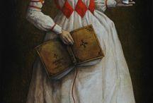 harlequin illustration