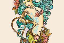 Sea tattoo ideas / tatuaggi con soggetti riguardanti mare e oceano