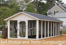 4X4 Construction Chicken Coops: Mortise & Tenon
