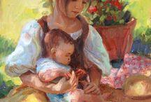 Peinture d'enfant / by Suzanne Leclerc
