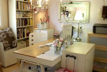 Craft/Sewing Room / Ideas/inspiration for setting up and organizing a craft and sewing room...