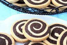 biscuiți in 2 culori