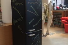 """""""Scrivimi"""" il frigo lavagna di Bompani /  """"Scrivimi"""" di Bompani  -  #frigo #lavagna, #chalkboard #paint #kitchen"""