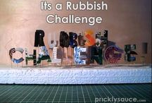 Its a Rubbish Challenge / I have challenged myself to make interesting objects out of the things we throw away