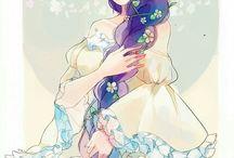 anime с цветами